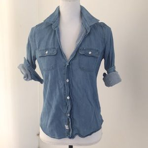 Frank & Eileen denim button down xs